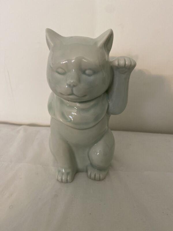 Maneki Neko Beautiful Porcelain/Ceramic Lucky CAT by Andrea Sadek made in Japan
