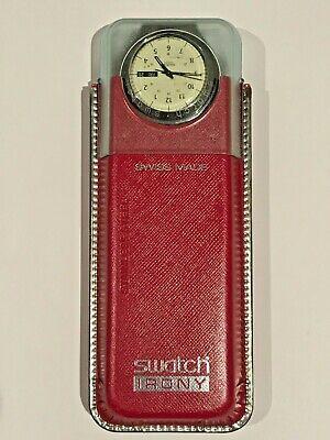 ⌚ Vintage SWATCH IRONY STAINLESS STEEL WATCH Bracelet Original Package New Batt