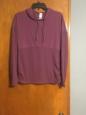 Fabletics Womans CASHEL Hoodie ThumbHoles Long-Sleeved Pullover Shirt Size S