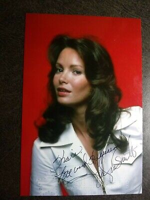 JACLYN SMITH Authentic Hand Signed Autograph 4X6 Photo - SEXY- CHARLIE'S ANGELS