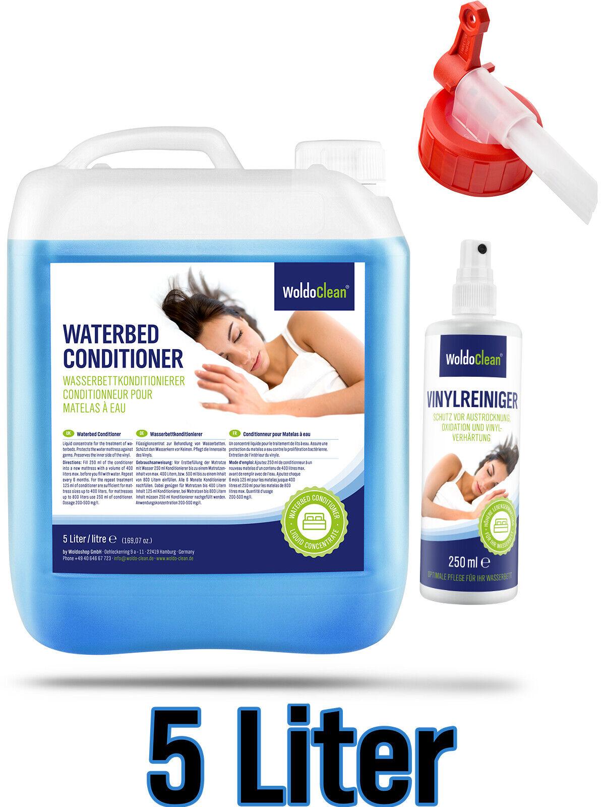 Wasserbetten Conditioner 5 Liter & 250ml Vinylreiniger  Wasserbett mit Ausgießer
