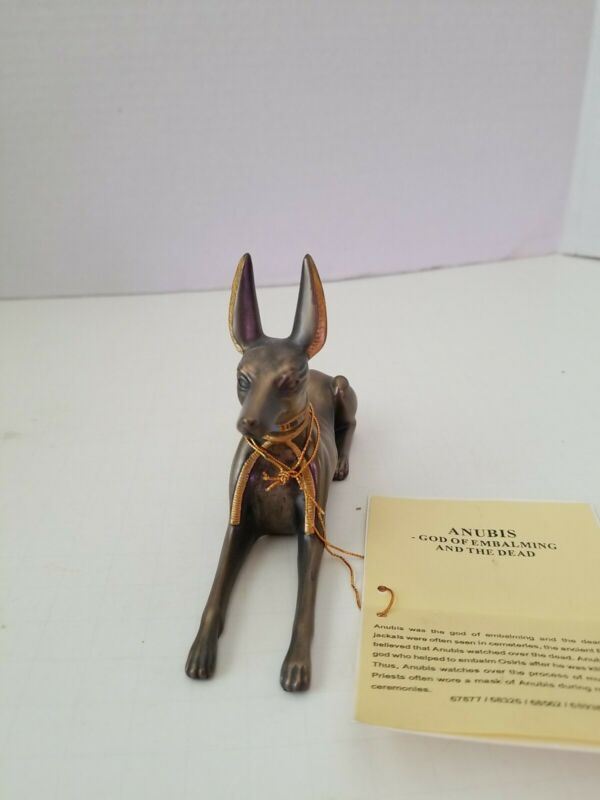 Vintage Veronese Anubis statue, 2002, 3.5 inch tall, cold cast resin