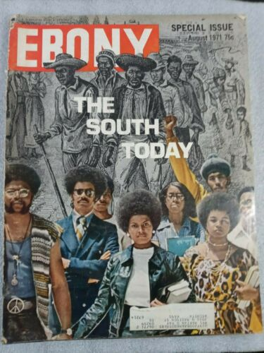 VTG August 1971 Ebony Magazine, Special Issue, Black Americana, Southern, South