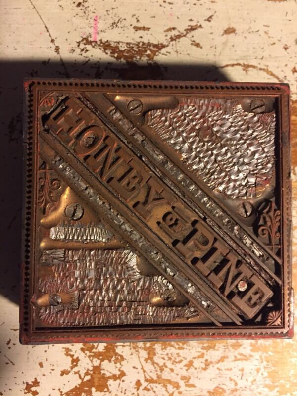 Wood Printing Letterpress Printers Block HONEY & PINE