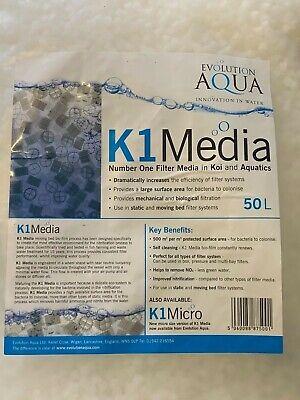 Evolution Aqua K1 Filter Media Pond & Aquarium Static / Moving Bed Filters 50L