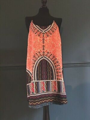 Kiss The Sky Dress Size M Beautiful Summer Festival Style Dress,Black & Multi ❤️