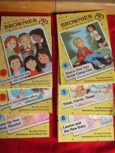 lot of Vintage Girl Scout Here Come the Brownies Chapter Books # 1, 2, 3, 4. 5,