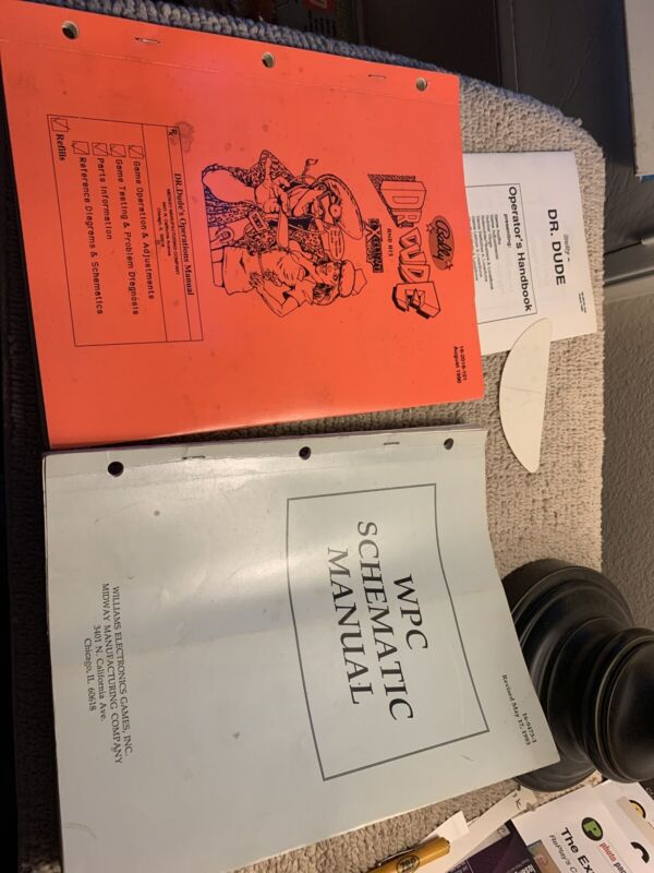 original Dr Dude Set Bally pinball MACHINE manual
