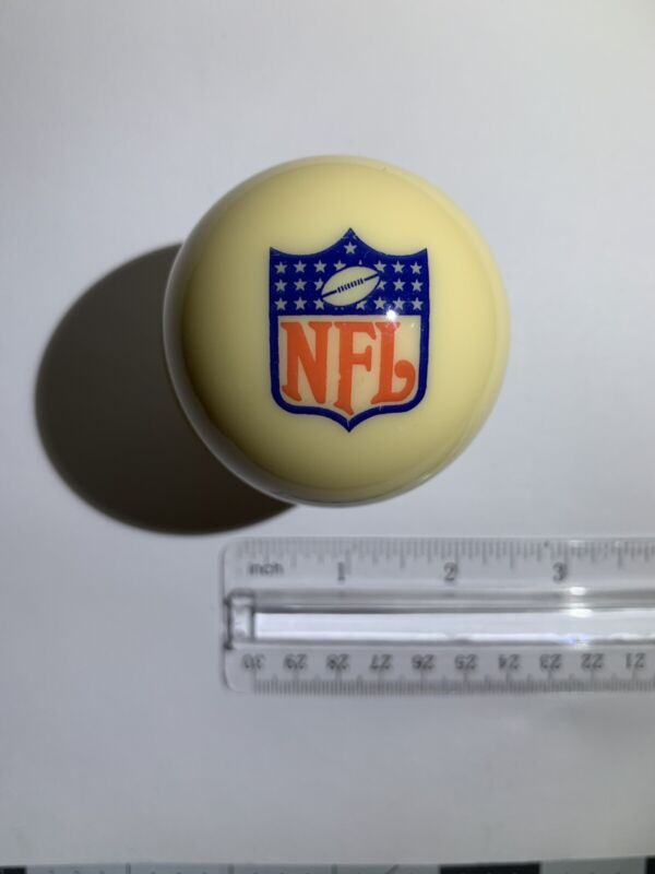 FOOTBALL NFL LOGO BILLIARD GAME POOL TABLE REPLACEMENT CUE 8 BALL