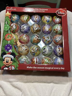 Hallmark Disney Count Down To Christmas Ornament Set Advent Calendar NEW