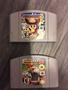 N64 games Mario party Mario kart