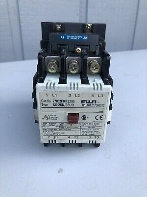 Fuji Electric Magnetic Contactor 2nc2fo Sc-2snseud 3ph 600v