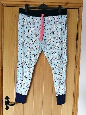 Brand New Disney Frozen Olaf Pyjama Bottoms Size XL 18/20