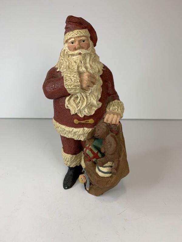 "Vintage 1985 7"" Carolyn Carpin Santa Claus Christmas Figure"