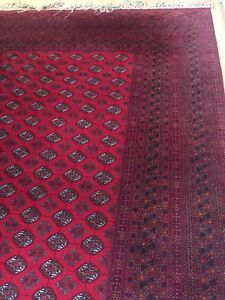 Large handmade hand knotted Persian area rug wool carpet EUC