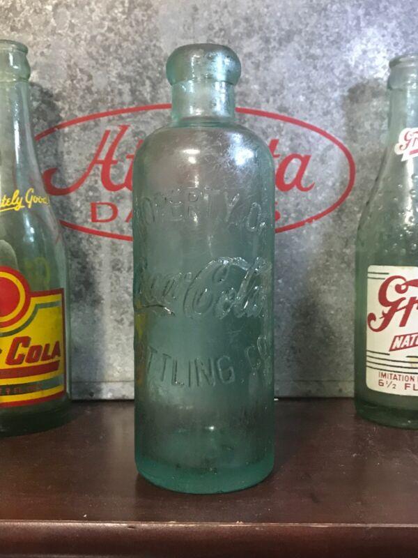 Vintage 1980's Reproduction Hutchinson Coke Bottle Estate Find