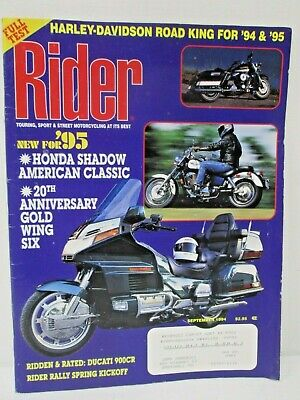 Rider Magazine September 1994 Touring Street Motorcycling At Its Best