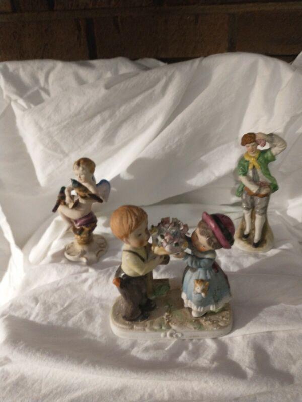3 Vintage Bisque Figurines