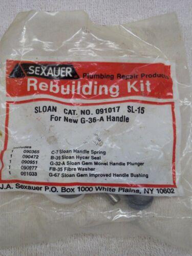 Sexauer Rebuilding Kit Cat. no. 091017 Sloan Sl-15 Handle Kit