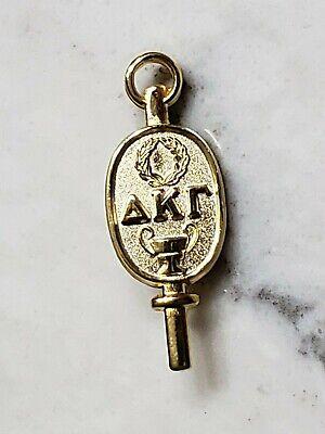 Vintage 1929 Delta Kappa Gamma Sorority Gold Vermeil Key Pin Keypin