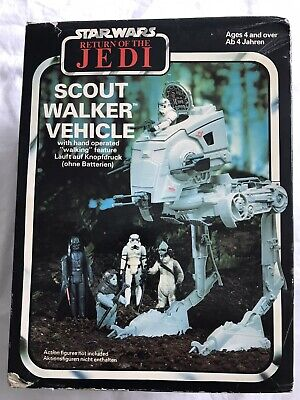 VINTAGE STAR WARS SCOUT WALKER VEHICLE, ROTJ, PALITOY