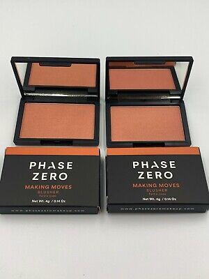 2x - PHASE ZERO MAKE UP Blusher Blush -Making Moves NEW in BOX
