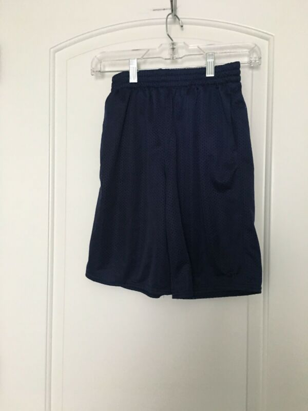 Starter Boys Athletic Lined Shorts Sz L 10-12 Blue