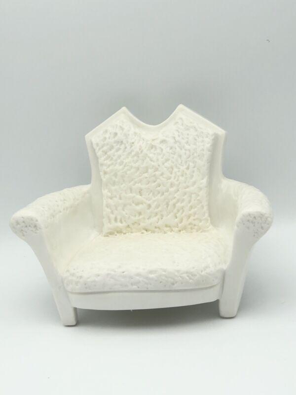 Poupee Millet Vintage Ceramic Doll Chair Original Signed Serge