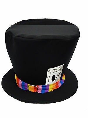 Childs Mad Hatter Top Hat Book Week Fancy - Childs Mad Hatter Kostüme