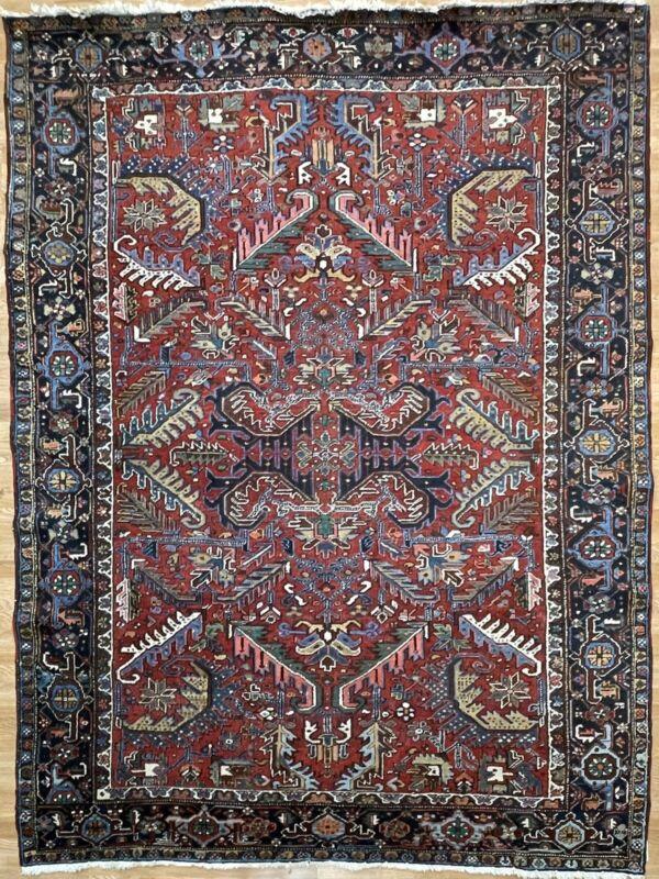 Tremendous Tribal - 1930s Antique Oriental Rug - Nomadic Carpet - 7.10 X 10.5
