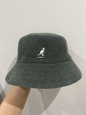 Kangol Mens Boucle Bucket Hat L/XL Green Great condition