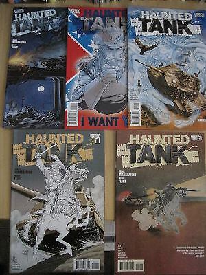 HAUNTED TANK : COMPLETE 5 ISSUE SERIES by MARRAFFINO & FLINT. DC VERTIGO. 2009