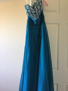 Prom dress teal 75 obo
