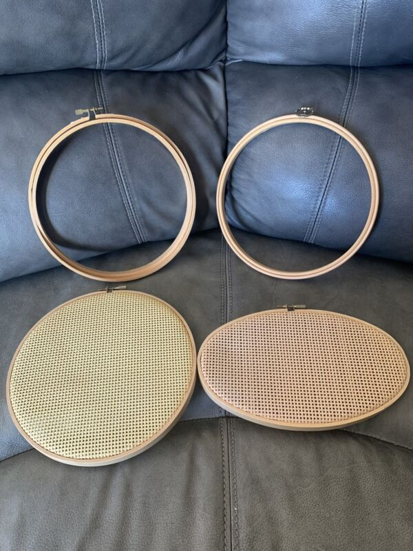 Wood Oval-Circles Hoop Ring Cross Stitch Embroidery Needle Point