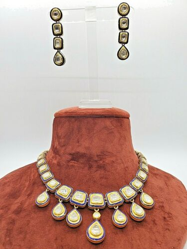 18Kt Yellow Gold Kundan Uncut Diamond Polki Necklace
