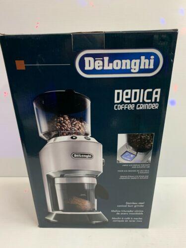 NEW DeLonghi Dedica Coffee Conical Burr Grinder KG521M KG 521.M Stainless steel