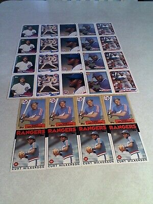 Curtis Wilkerson Lot Of 150 Cards.....48 DIFFERENT / Baseball - $35.33