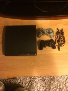 PS3 system , controllers and games