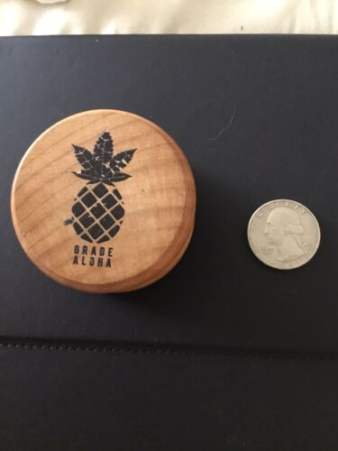 Vintage Hawaiian Wooden Grinder Break Up Herb Cannibus - $10.00
