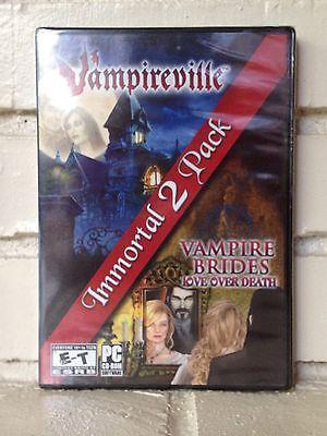 Computer Games - vampireville + vampire brides - 2 mystery horror adventure computer games - new