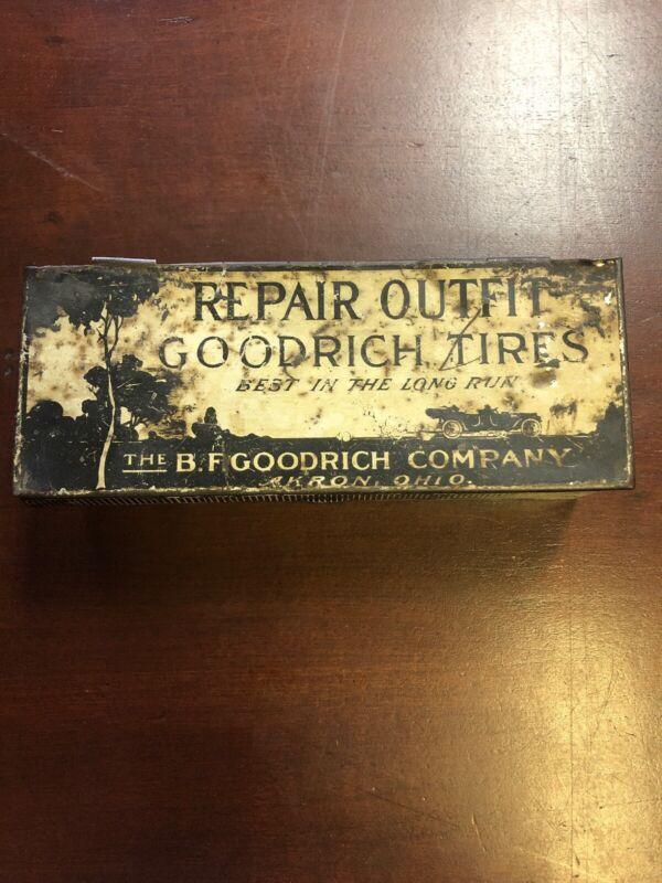 Antique BF Goodrich Tires Repair Outfit Tin Litho Box