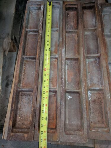 "Heavy Cast Iron  Lead Ingot Mold  28"" Long"