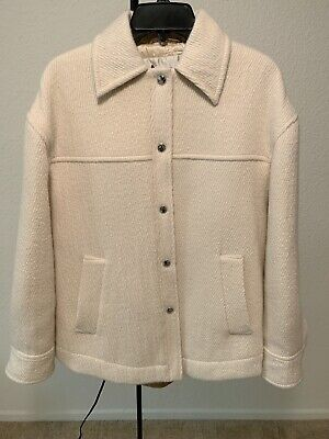 Brand New Acne Studios Ocilia Oversized Cotton-blend Jacket Coat White Size XS