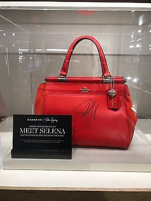 - Selena Gomez Coach - Selena Grace Bag In Mixed Leathers-limited Ed. W Signature!
