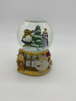 "DISNEY ENESCO BEAUTY AND THE BEAST ""MINUET NO. 1"" CHRISTMAS MUSICAL SNOW GLOBE"