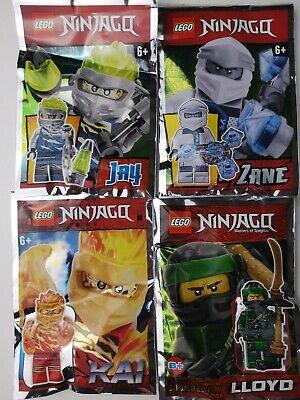 LEGO Minifigures NinjaGo 4 Original NEW ZANE KAI LLOYD JAY Limited Edition