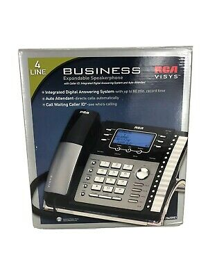 Rca Visys 4 Line Expandable Speakerphone Digital Business Answering Machine