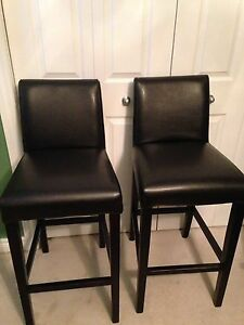 2 faux leather bar seats