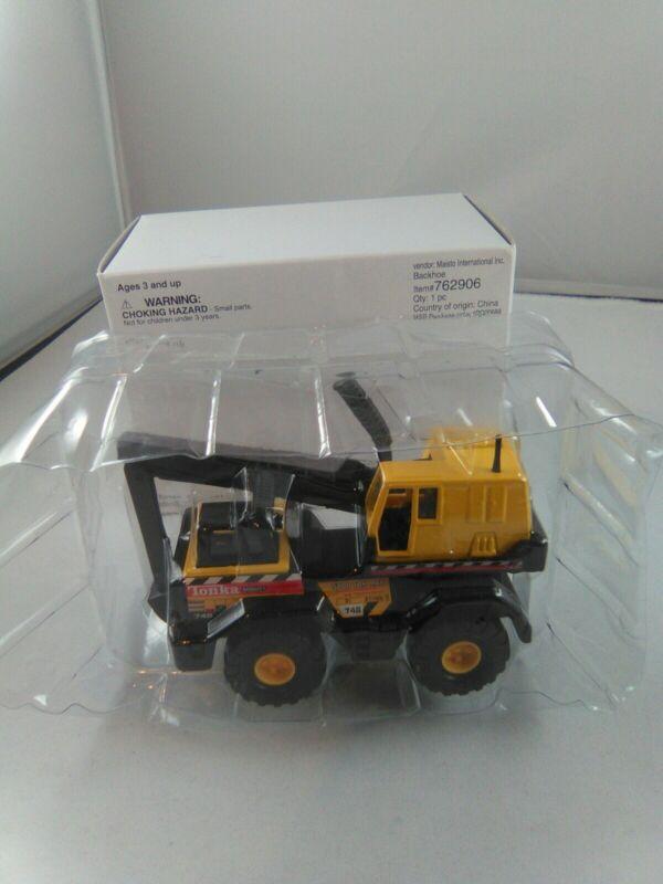 """Lot of 5 Hasbro 2001 TONKA MIGHTY diecast backhoe #762906 toy truck 4.5"""" length"""