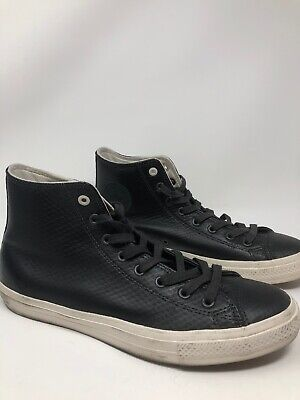Converse Chuck Taylor All Star Shoes Hi - Black LeatherbMen's Size 12M 408